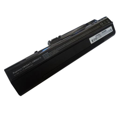 Аккумуляторная батарея Acer UM08A72 11,1v 4800mAh, черная Усиленная