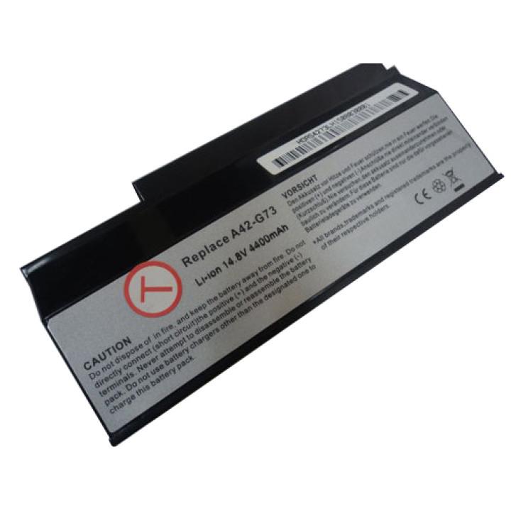 Аккумуляторная батарея Asus A42-G73 14,8v 4800mAh, черная