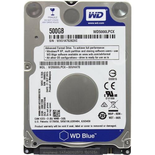 """Жесткий диск WD Blue HDD 2.5"""" 500Gb WD5000LPCX, SATA 6Gb/s, 5400rpm"""