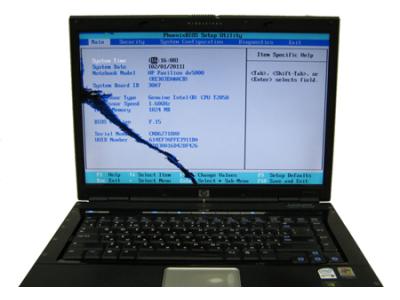 Проверка исправности матрицы ноутбука