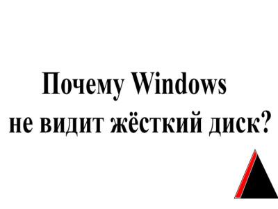Windows не видит жесткий диск
