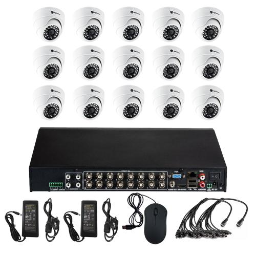 Комплект видеонаблюдения для офиса на 15 камер для помещения - AHD 5Мп 1952P