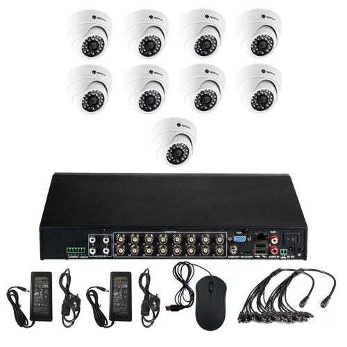 Комплект видеонаблюдения для офиса на 9 камер для помещения - AHD 5Мп 1952P