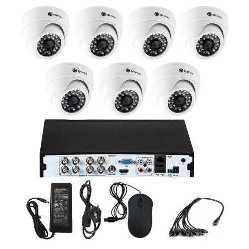 Комплект видеонаблюдения для офиса на 7 камер для помещения - AHD 5Мп 1952P