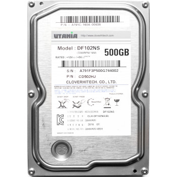 "Жесткий диск 500 Gb Utania DF102NS, HDD 3.5"" 500 Gb, 16Mb, 7200 RPM"