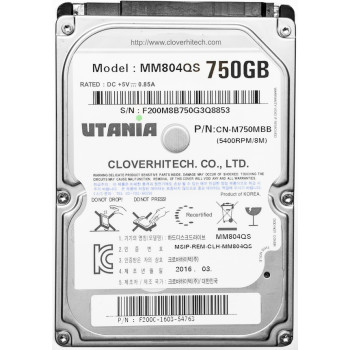 "Жесткий диск 750 Gb Utania MM804QS, HDD 2.5"", 8Mb, 5400 RPM"