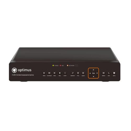 Видеорегистратор для IP камер видеонаблюдения Optimus NVR-1041
