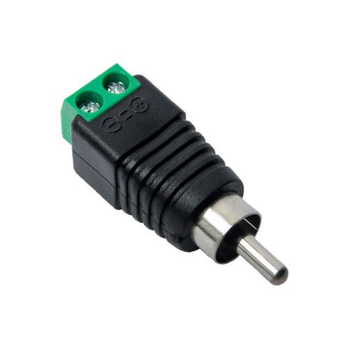 Разъем RCA для микрофонов видеонаблюдения Optimus штекер с клеммной колодкой (20шт)