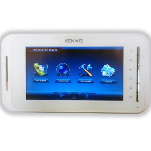 Видеодомофон Kenwei KW-E707N белый (IP System)