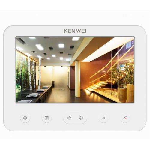 Видеодомофон Kenwei KW-E706C белый DIGIT