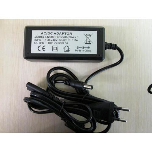 Блок питания для систем видеонаблюдения J2000-PS12V3A:36W v.1