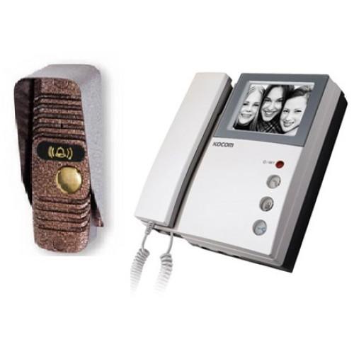 Комплект видеодомофона с вызывной панелью Kocom KVM-301/JSB-V05M