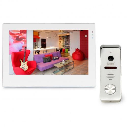 """Комплект видеодомофона с вызывной панелью J2000 7""""-7 J2000-DF-ВИОЛЕТТА AHD 2.0 Touch W (белый)/АНТЕЙ AHD 2,0 mp (белый)"""