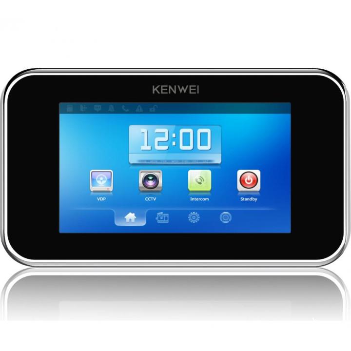 Видеодомофон Kenwei KW-S702TC черный тач скрин
