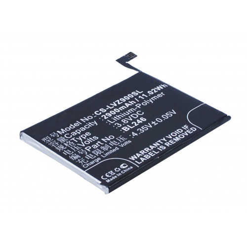 Аккумулятор CS-LVZ900SL BL246 для Lenovo Vibe Shot 3.8V / 2900mAh / 11.02Wh